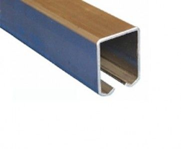 Schuifdeur rail - staal verzinkt - L=400 cm - Maximale belasting 1000 Kg/meter