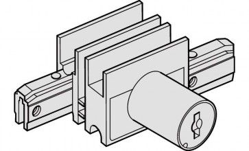 Vitrinekast schuifdeurslot Exclusief cilinder - los bestellen