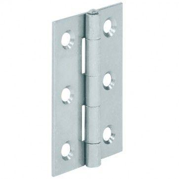 Bladscharnier staal verzinkt - 50x39 mm - geklonken stift - productafbeelding - 354.02.930