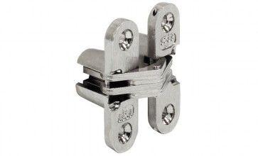 Scharnier SOSS vermessingd 117,5x28,5mm Zink-aluminium, om te schroeven