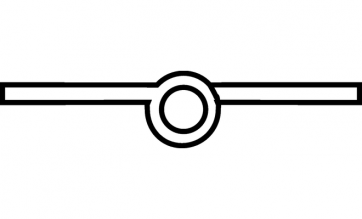Scharnier messing vernikkeld mat 50mm Recht, Aanslag: links