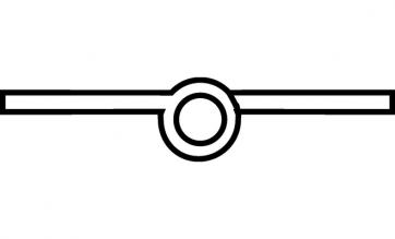 Scharnier staal vermessingd 50mm Recht, Aanslag: rechts