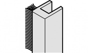 Stof afdichtingsprofiel 500 cm- verlijmen - glasdikte 8 mm