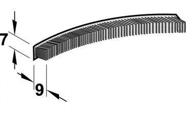 Borstelprofiel 300 cm voor rail 2600