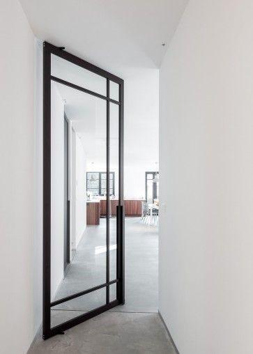 Taatdeur systeem Portapivot 6530 dhz bouwpakket voor stalen taatsdeur met glas - frame rondom - deuren B650 t/m 2250 x H1800 t/m 2950 mm