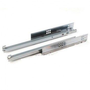 Blum Tandem 550H Blumotion softclose ladegeleider - kogelgelagerd - inbouwlengte 500 mm - uittreklengte 404 mm - max 30 Kg - ZELFSLUITEND en gedempt - staal verzinkt