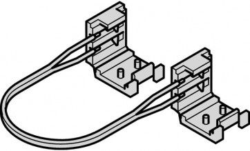 LEDstrip verbindingskabel met 2 clips - 50 mm