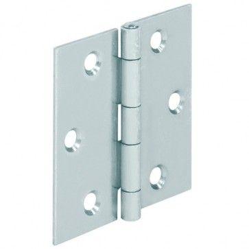 Bladscharnier staal verzinkt - 50x50 mm - geklonken stift - productafbeelding - 354.03.937