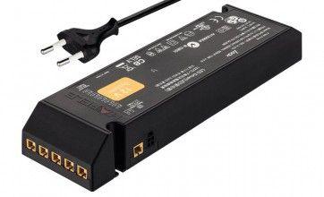 LED voeding 12V - 0 - 60W met EU-stekker - 6 aansluitingen - 1 schakelfunctie
