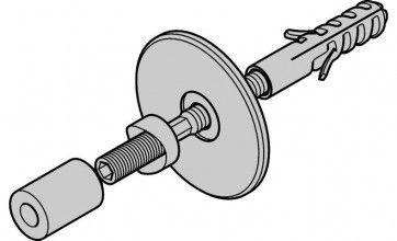 Wandbevestigings set deuren 38 - 42 mm dik