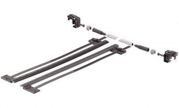 Zijstabilisering Tandem 30 Kg ENKELVOUDIG ondiepe en brede lades (B> 600 mm)  Ladelengte 411 mm tot 650 mm