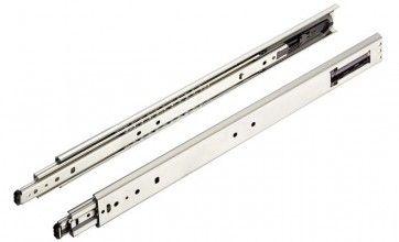Softclose ladegeleider - kogelgelagerd - inbouwlengte 400 - 1000 mm - max gewicht 65 t/m 100 Kg - volledig uittrekbaar - staal verzinkt