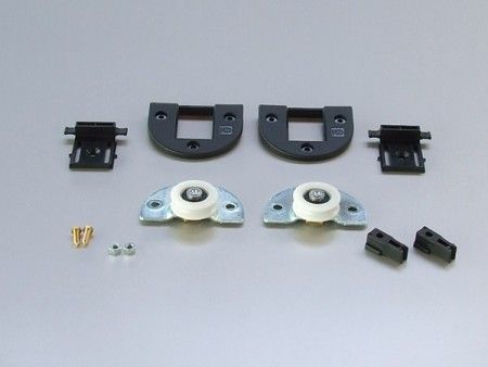 Loopset voor 1 paneel max 60 Kg/paneel - kunststof bovenschoen - Paneeldikte minimaal 20 mm