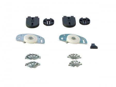 Loopset voor 1 paneel - max 40 Kg/paneel - paneeldikte minimaal 18 mm