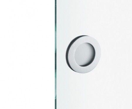 FSB schuifdeurgreep open Aluminium voor glazen panelen van 8mm dik