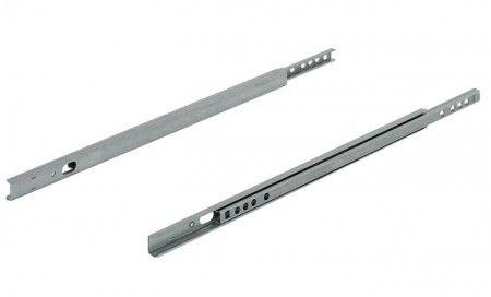 Groef ladegeleider 17 x 10 mm - kogelgelagerd - inbouwlengte 246 mm - 70% uittrekbaar - max 10 Kg - 2 zijdig uittrekbaar - staal verzinkt