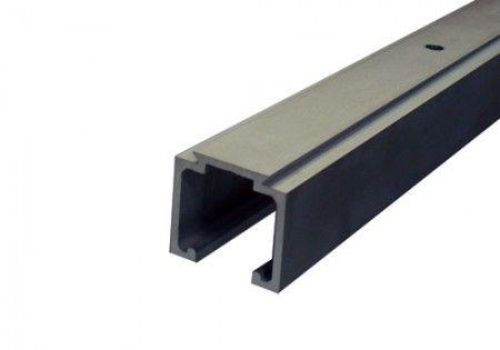 Aluminium schuifdeurrail 200 cm - max 80 Kg/meter