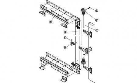Synchroonset voor lineaire geleider 450 mm