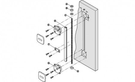 Deur uitrichter - voorkom kromme panelen - Voor panelen max. 2650 mm hoog - inkortbaar