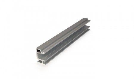 Wandbevestiging C rail 200 cm - voor onzichtbare wandmontage 1220 rail - deurdikte max 40 mm - afstand wand tot hart rail 25 mm