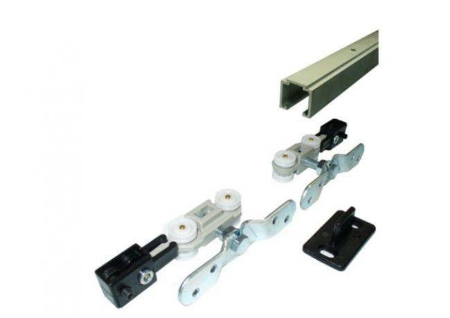 Rails Voor Deuren : Compleet ophangsysteem schuifdeur deur max 80 cm breed 40 kg