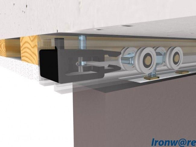 Rails Voor Deuren : Schuifdeursysteem pro plafondhoog 80kg 0600