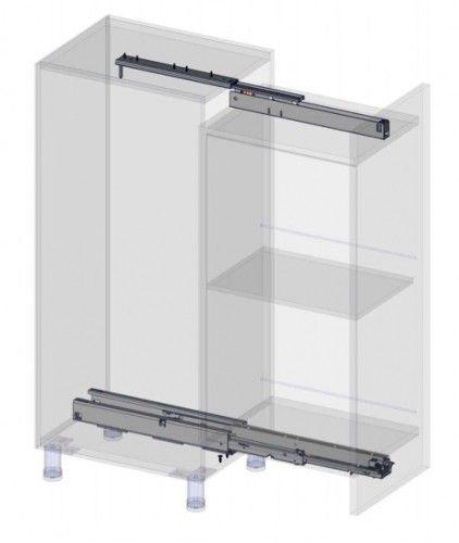 Apothekerskast geleider   max 75 Kg 700 mm   met geintegreerde demping