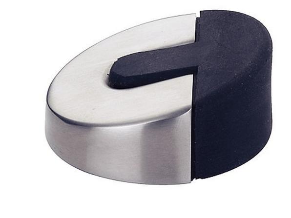 Zeer Deurstopper rond - mat RVS Rond 60 mm x 24 mm hoog PE33