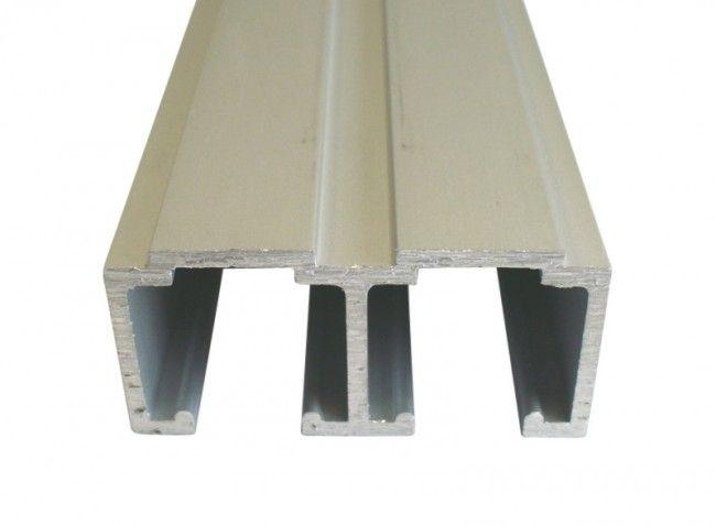 Aluminium Dubbele Schuifdeurrail 400 Cm Max 80 Kgmeter H 295 Mm X B 68 Mm
