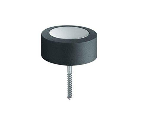 Populair Deurstopper rond - mat RVS Rond 48 mm x 24 mm hoog UO44