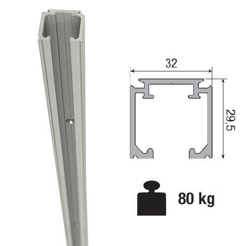 Aluminium Schuifdeurrail 400 Cm Max 80 Kgmeter