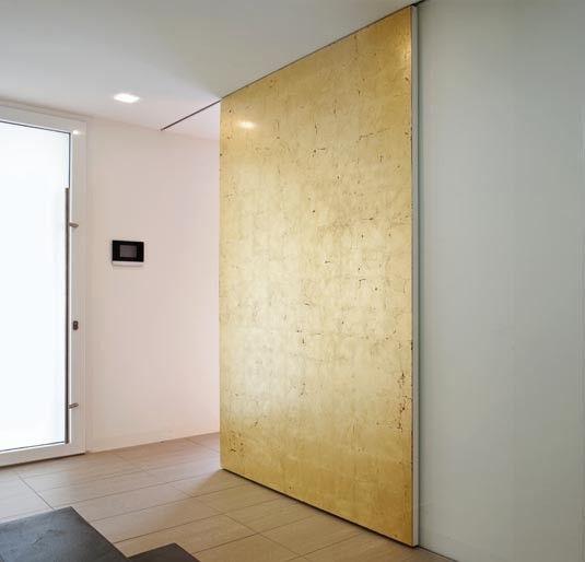 Ophangset geen kier tussen schuifdeur en rail alles om 1 schuifdeur strak af te hangen - Zorgen voor een grote spiegel aan de wand ...