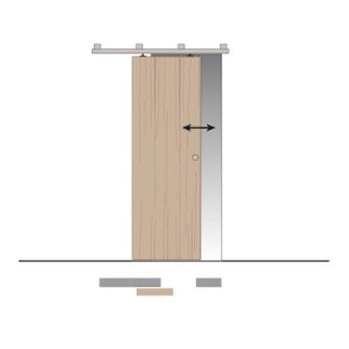 Binnen Schuifdeur Systeem.Schuifdeur Systeem Voor Binnen En Buitendeuren Max 250 Kg