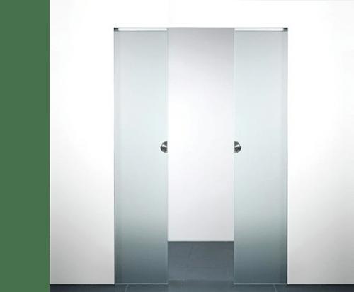 X5 Schuifdeurset Dubbele Deur Glas Compleet Max 2115 X