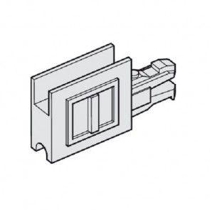 Eindkapje voor glasdeurprofiel/loopschoenrail - met greep