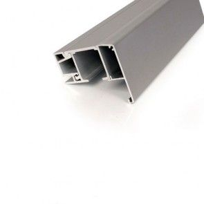 1220 softclose rail set max120 Kg - minimalistische wandmontage met aluminium deklijst en borgpen