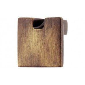 messing bruin gepatineerd meubelknop 30x25 mm