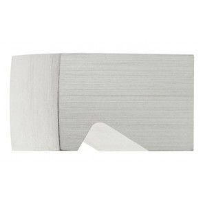 131.98 Aluminium zilver halfrond meubelknop (klik voor maten)
