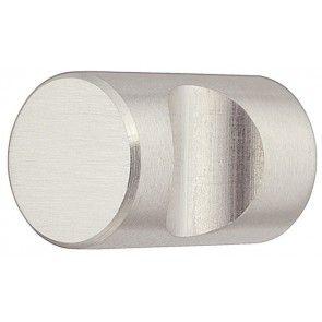 RVS mat ronde meubelknop (12x25 en 20x30 mm)