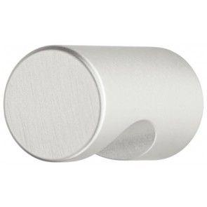 Al. zilver geëloxeerd halfrond meubelknop