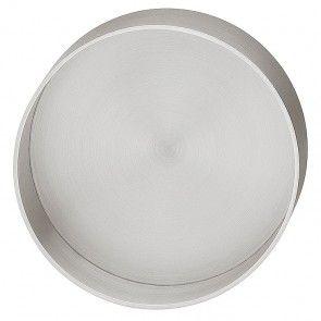 rvs mat geborsteld cirkelvormig komgreep diameter 60,3 +/- 5 mm, schroefloze bevestiging, om te lijmen