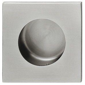 rvs mat geborsteld vierkant komgreep 59x59 en 69x69 mm bevestigingsmateriaal inbegrepen
