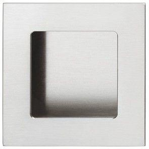 rvs mat geborsteld vierkante komgreep 50x50 en 75x75 mm schroefloze bevestiging, om te lijmen