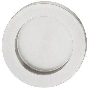 rvs mat geborsteld rond komgreep diameter 44 mm, inbouw diameter 33 mm, dikte 4 mm, schroefloze bevestiging, om te lijmen, geschikt om in glazen schuifdeuren te lijmen