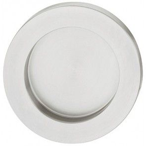 rvs mat geborsteld rond komgreep diameter 44 mm, inbouw diameter 36 mm, dikte 6 mm, schroefloze bevestiging, om te lijmen, geschikt om in glazen deuren te lijmen