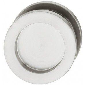 152.52.082 rvs mat geborsteld rond komgreep diameter 44 mm, inbouw diameter 36 mm, dikte 8 mm, schroefloze bevestiging, om te lijmen, geschikt om in glazen deuren te lijmen