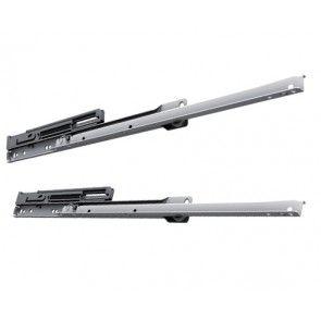 Softclose ROL ladegeleider - inbouwlengte 300 - 550 mm - deels uittrekbaar - max 30 Kg - staal wit gepoedercoat