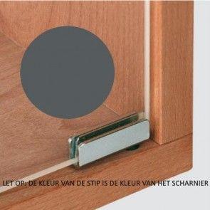Glasdeurscharnier Simplex - INLIGGEND - staal zwart mar - Glasdikte max 4,7 mm - max deur H600 x B400 mm - Openingshoek 110°