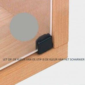 Glasdeurscharnier INLIGGEND - Zink vernikkeld mat - Max deurafmeting H800 x B400 x D6,5 mm - openingshoek 90°