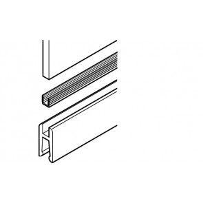 Klemprofiel kunststof grijs rubber - lengte 200 cm - alleen voor glasdikte 6 mm nodig